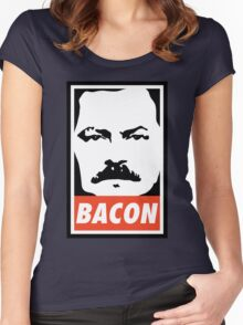 BACON (Colour) Women's Fitted Scoop T-Shirt