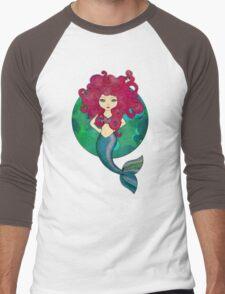 Mermaids have bad hair days, too. Men's Baseball ¾ T-Shirt