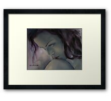 Burning In The Shadow Framed Print