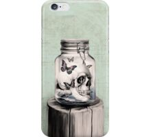 Lost thoughts, nautical skull iPhone Case/Skin