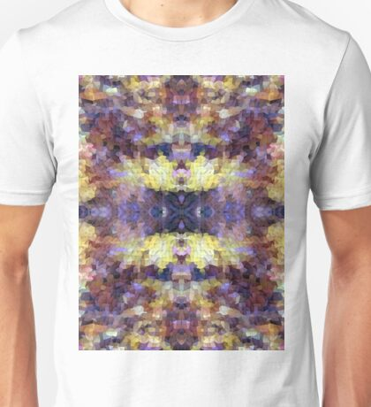 Abstract Mosaic in Yellow Blue Purple Unisex T-Shirt