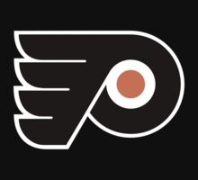 Philadelphia Flyers logo black t-shirt by poannew