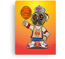 Sin City Pugs Basketball club Canvas Print