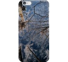 Trees grow to the sky - ice crystals iPhone Case/Skin