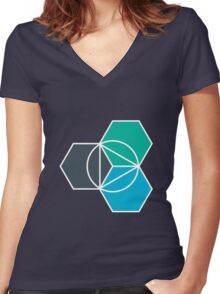 IBM Bluemix Women's Fitted V-Neck T-Shirt