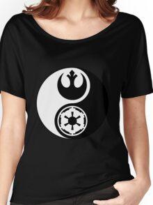 Rebel Alliance v Galactic Empire - Yin Yang 2 Women's Relaxed Fit T-Shirt