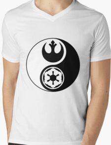 Rebel Alliance v Galactic Empire - Yin Yang 2 Mens V-Neck T-Shirt