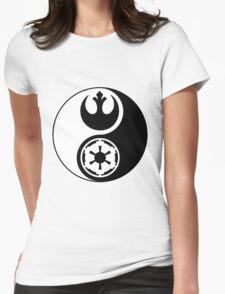 Rebel Alliance v Galactic Empire - Yin Yang 2 Womens Fitted T-Shirt