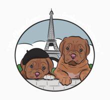 Dogue de Bordeaux Pups in Love Kids Tee