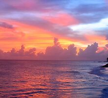 Barbados sunset  by jonjevans