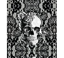 Gothic Lace skull Photographic Print