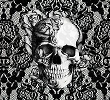 Gothic Lace skull by KristyPatterson