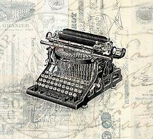 Vintage Paris French Typewriter by Edward Fielding