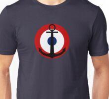 French Navy roundel / Cocarde de la Marine française Unisex T-Shirt