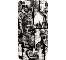 Broken up, Melting skull pattern iPhone Case/Skin