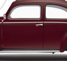1949 Volkswagen Beetle Sedan - Bordeaux Red Sticker