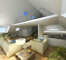 Home 3d interior rendering design by 3drendering