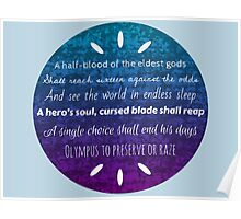 Percy Jackson Prophecy Purple and Blue Poster