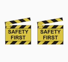 On Set - SAFETY FIRST!  (2 Stickers) by RedbubbleME