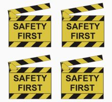 On Set - SAFETY FIRST!  (4 stickers) by RedbubbleME