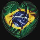 I Love Brasil Flag by V-Art