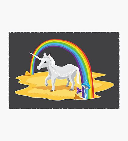 Pony unicorn Photographic Print
