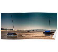 Sailboats at Low Tide Poster
