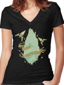 Flying Fairy Women's Fitted V-Neck T-Shirt