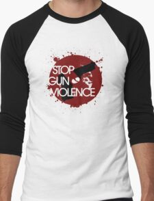 Stop Gun VIOLENCE Men's Baseball ¾ T-Shirt