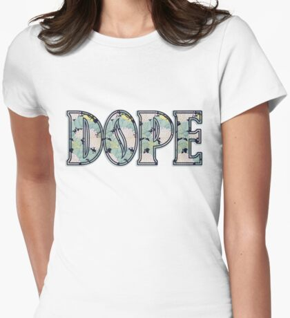 Hipster DOPE Womens Fitted T-Shirt