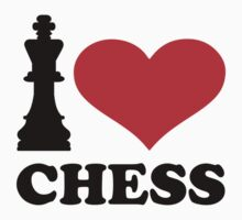 I love chess Kids Tee