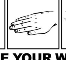 Rock Paper Scissors Choose Your Weapon Sticker