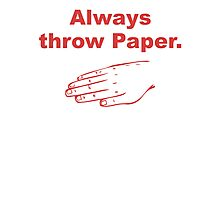 Always Throw Paper Photographic Print