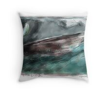 the rising tide Throw Pillow
