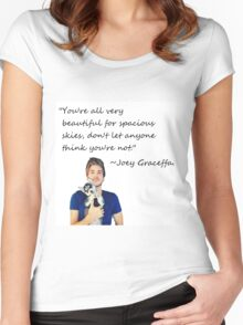 Joey Graceffa-FORSPACIOUSSKIES Women's Fitted Scoop T-Shirt