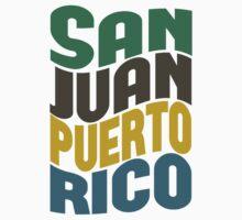 San Juan Puerto Rico Retro Wave Kids Tee