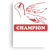 Rock Paper Scissors Champion Canvas Print