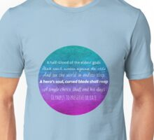 Percy Jackson Prophecy - Blue Background Unisex T-Shirt