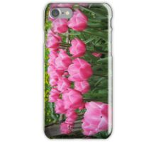pink tulip-crowd iPhone Case/Skin