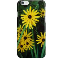 Yellow flowers on green grass iPhone Case/Skin