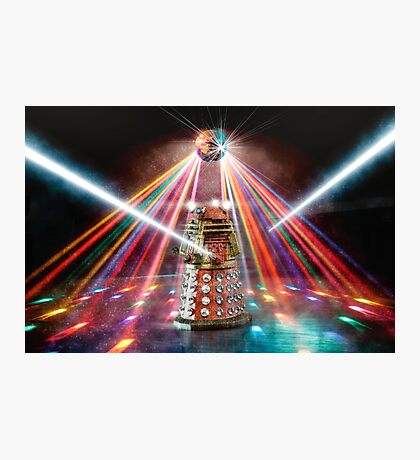 Disco Dalek Photographic Print