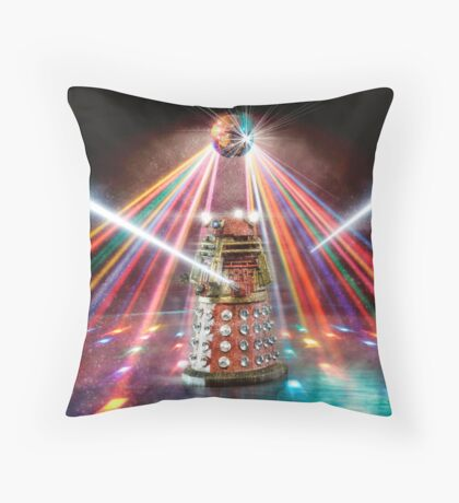 Disco Dalek Throw Pillow