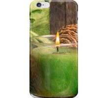 Relaxing Spa Candle iPhone Case/Skin