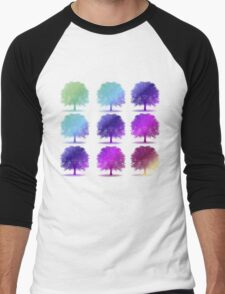 tree isolated over white Men's Baseball ¾ T-Shirt