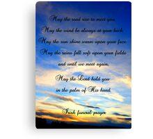 Irish Funeral Prayer Canvas Print