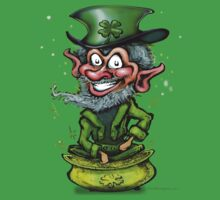 Leprechaun on Pot of Gold by Kevin Middleton