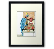 Saying Sorry Framed Print