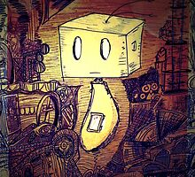 Little Robot Dude by Staethe