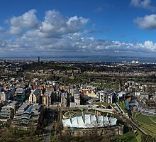 Panoramic View From Salisbury Crags by HJIrvine