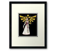 Zelda and Triforce Framed Print